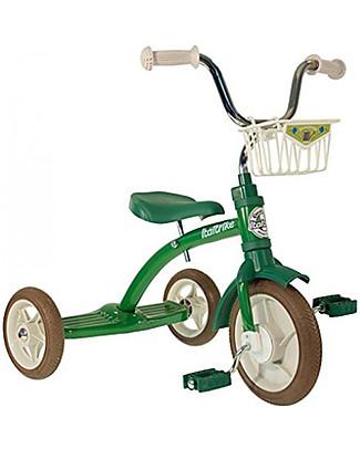 Italtrike Classic Line Super Lucy, Triciclo di Alta Qualità, Struttura in Metallo - Verde Biciclette