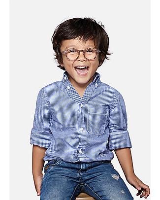 Izipizi Junior Screen #D, Occhiali da Lettura Bimbi per Tablet e PC, Tartaruga Azzurro - Taglia unica da 4 a 10 anni! Occhiali