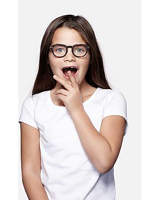 Izipizi Occhiali da Lettura Bimbi per Tablet e PC, Junior Screen #C, Tartaruga - Taglia unica da 4 a 10 anni! Occhiali