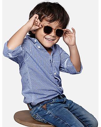 Izipizi Sun Junior #C, Tartaruga Azzurro - Taglia unica da 4 a 10 anni! Occhiali