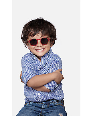 Izipizi Sun Junior #D, Rosso - Taglia unica da 4 a 10 anni! Occhiali