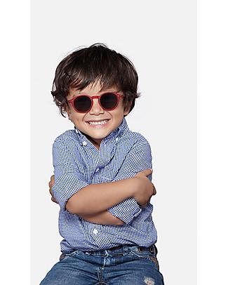 Izipizi Sun Junior Modello #D, Rosso - Taglia unica da 4 a 10 anni! Occhiali