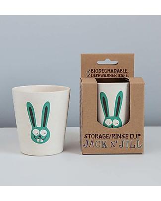 Jack 'n Jill Bicchiere per Risciacquo o per Spazzolino, Bunny il Coniglietto Dentifricio e Spazzolini