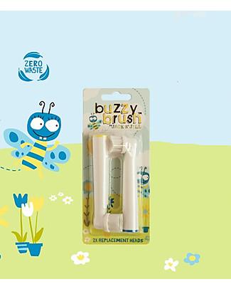 Jack 'n Jill Ricambio Testine Spazzolino Elettrico Musicale Buzzy Brush - Pacco da 2 Dentifricio e Spazzolini