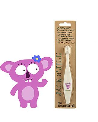 Jack 'n Jill Spazzolino per Bambini, Koala - Manico Biodegradabile Dentifricio e Spazzolini
