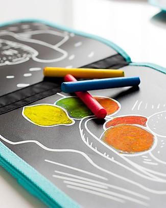 Jaq Jaq Bird Album da Colorare Riutilizzabile più Gessetti Zero Polvere - Van Gogh Colorare