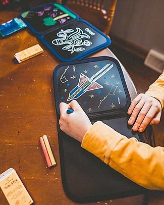 Jaq Jaq Bird Album Riutilizzabile più Gessetti Zero Polvere - Costellazioni Giochi Creativi
