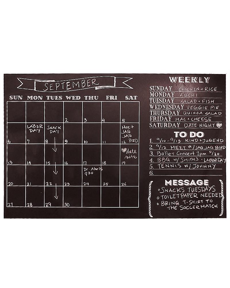 Jaq Jaq Bird Calendario da Muro - Effetto Lavagna unisex