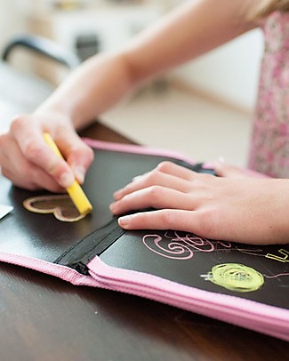 Jaq Jaq Bird Gessetti Zero Polvere Multicolor - 12 Gessetti per Scrivere anche sui Vetri! Colorare