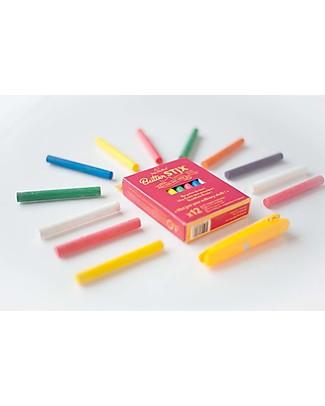 Jaq Jaq Bird Gessetti Zero Polvere Multicolor - Include il Portagessetti Magnetico! Giochi Creativi