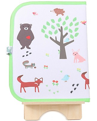 "Jaq Jaq Bird Tovaglietta 2in1 ""Gioca e Mangia"", Foresta - Include 4 gessetti Butterstix Set Pappa"