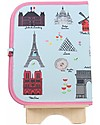 "Jaq Jaq Bird Tovaglietta 2in1 ""Gioca e Mangia"", Parigi - Include 4 gessetti Butterstix Set Pappa"