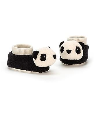 JellyCat Baby Pantafole Panda 0-6 mesi - Morbidissime e calde! Pantofole