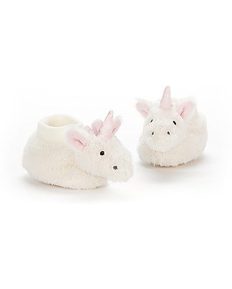 JellyCat Baby Pantafole Unicorno 0-6 mesi - Morbidissime e calde! Pantofole