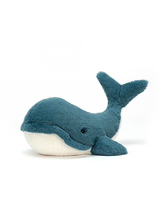 JellyCat Peluche Balena Wally Whale, Medium - 35 cm - Morbidissimo e divertente! Peluche