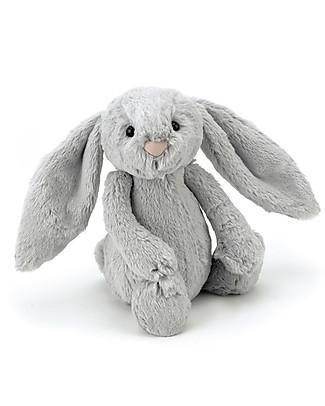 JellyCat Peluche Coniglietto Lunghe Orecchie, Argento (Medium) -  31 cm - Morbidissimo e dolce null