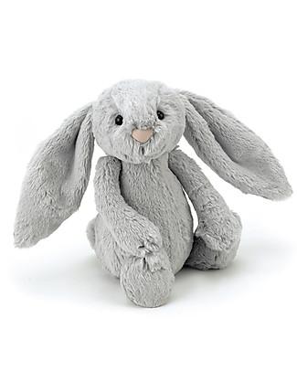 JellyCat Peluche Coniglietto Lunghe Orecchie, Argento (Medium) -  31 cm - Morbidissimo e dolce Peluche