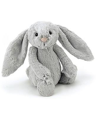 JellyCat Peluche Coniglietto Lunghe Orecchie, Argento (Small) - 18 cm - Morbidissimo e dolce null