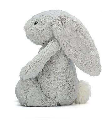 JellyCat Peluche Coniglietto Lunghe Orecchie, Argento (Small) - 18 cm - Morbidissimo e dolce Peluche
