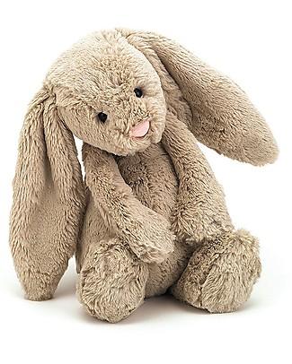 JellyCat Peluche Coniglietto Lunghe Orecchie, Beige (Medium) - 31 cm - Morbidissimo e dolce Peluche