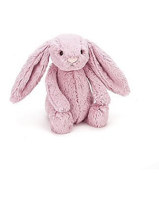 JellyCat Peluche Coniglietto Lunghe Orecchie, Rosa (Medium) - 31 cm - Morbidissimo e dolce Peluche