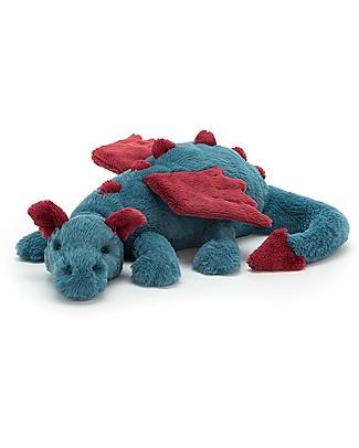 JellyCat Peluche Drago Dexter Dragon - 50 cm - Morbidissimo e divertente! Peluche