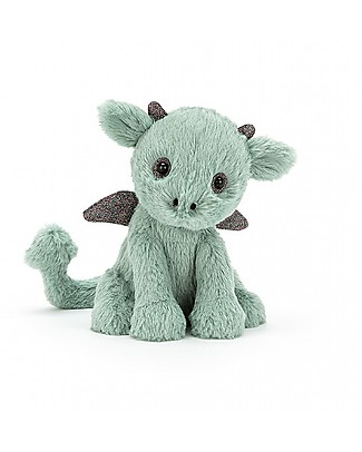 JellyCat Peluche Drago Starry-Eyed Dragon - 18 cm - Morbidissimo e divertente! Peluche