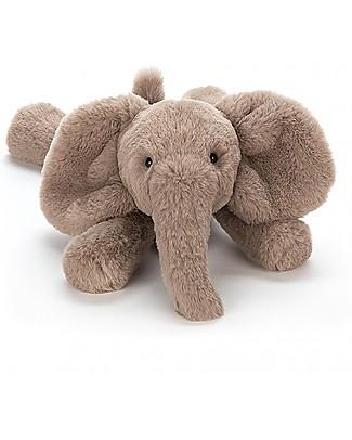 JellyCat Peluche Elefante Smudge Elephant - 34 cm - Morbidissimo e divertente! Peluche