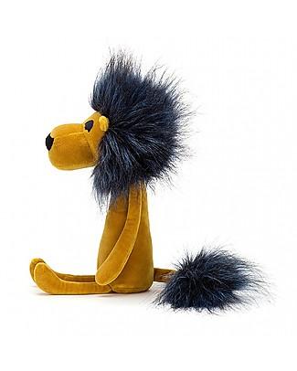JellyCat Peluche Leone Swellegant Lancelot Lion - 38 cm - Morbidissimo e divertente! Peluche