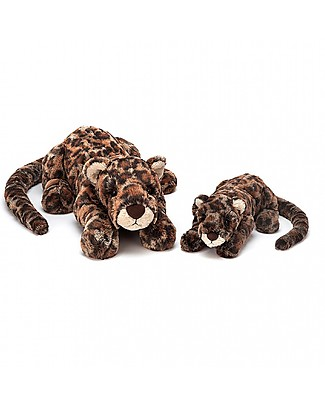 JellyCat Peluche Leopardo Livi Leopard Little - 29 cm - Morbidissimo e divertente! Peluche