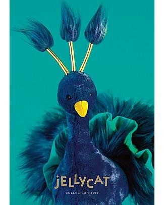JellyCat Peluche Pavone Electra Plume - 40 cm - Morbidissimo e divertente! Peluche