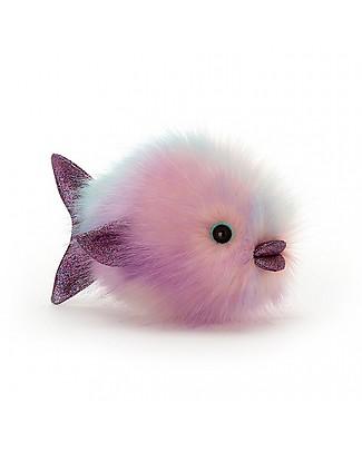 JellyCat Peluche Pesce Palla Disco Fish, Pastello - 21 cm - Morbidissimo e divertente! Peluche