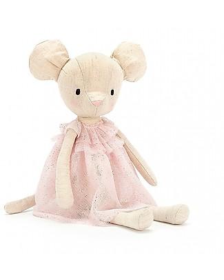 JellyCat Peluche Topina Jolie Mouse - 30 cm - Morbidissimo e divertente! Peluche