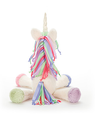 JellyCat Peluche Unicorno Lollopylou - 29 cm - Suona una dolce melodia! Sonagli