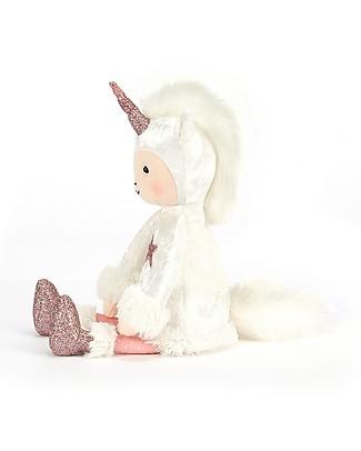 JellyCat Peluche Unicorno Perky Unicorn Moon - 30 cm - Morbidissimo e glamour! Peluche