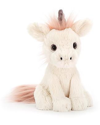 JellyCat Peluche Unicorno Starry-Eyed Unicorn - 18 cm - Morbidissimo e divertente! Peluche
