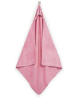 Jollein Asciugamano Baby con Cappuccio Coniglietto, Rosa - XL 100x100 cm - Morbido come velluto! Accappatoi e Asciugamani