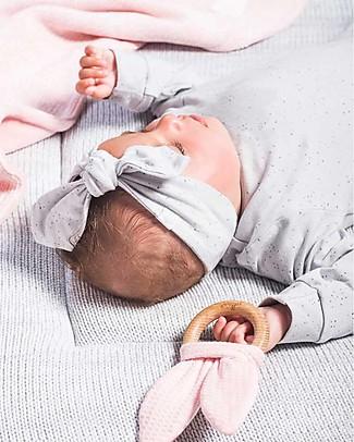 Jollein Baby Fascia per Capelli con Fiocco Pois, Grigio - Cotone Biologico Fermacappelli