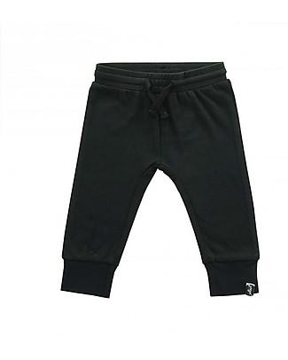 Jollein Baby Pantaloni Lunghi Lama, Nero - Cotone Biologico Pantaloni Lunghi