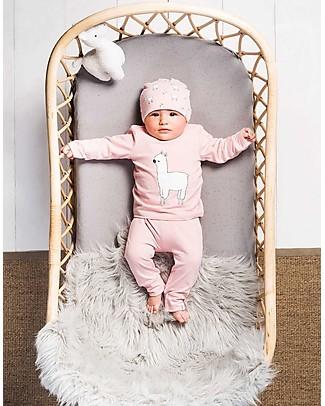 Jollein Baby Pantaloni Lunghi Lama, Rosa - Cotone bio Pantaloni Lunghi