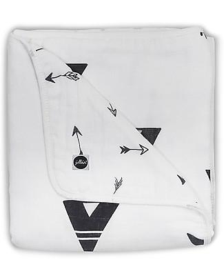 Jollein Black and White Blanket, Indians - 100% Muslin Cotton - 75x100 cm Blankets
