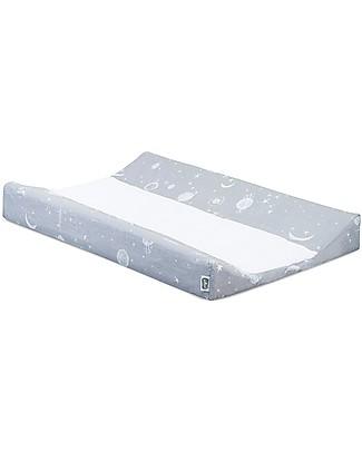 Jollein Cover per Fasciatoio, Grigio - 50x70 cm - 100% cotone Coprifasciatoi e Imbottiture