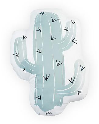 Jollein Cuscino Cactus Celeste - 100% Cotone Cuscini