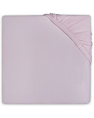 Jollein Fitted Sheet, Vintage Pink - 40x80 cm - Cotton Jersey Bed Sheets