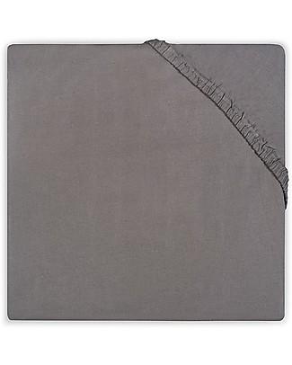 Jollein Lenzuolino con Angoli per Culla, Antracite - 70x140 cm - Cotone Lenzuola