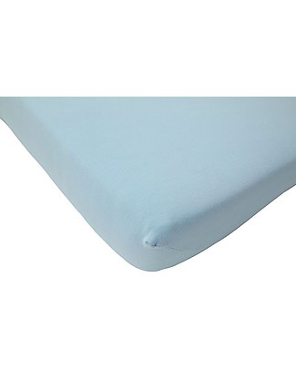 Jollein Lenzuolino con Angoli per Culla, Azzurro - 40x80 cm - Jersey di cotone Lenzuola