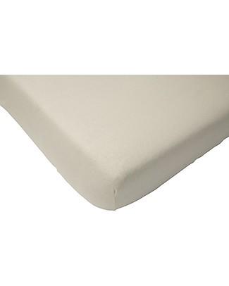 Jollein Lenzuolino con Angoli per Culla, Bianco - 40x80 cm - Jersey di cotone Lenzuola