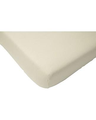 Jollein Lenzuolino con Angoli per Culla, Bianco - 70x140 cm - Cotone Lenzuola