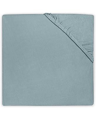 Jollein Lenzuolino con Angoli per Culla, Verde Pietra - 40x80 cm - Jersey di cotone Lenzuola