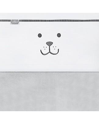 Jollein Lenzuolino per Culla Bear,  Antracite - 75x100 cm - Cotone Lenzuola
